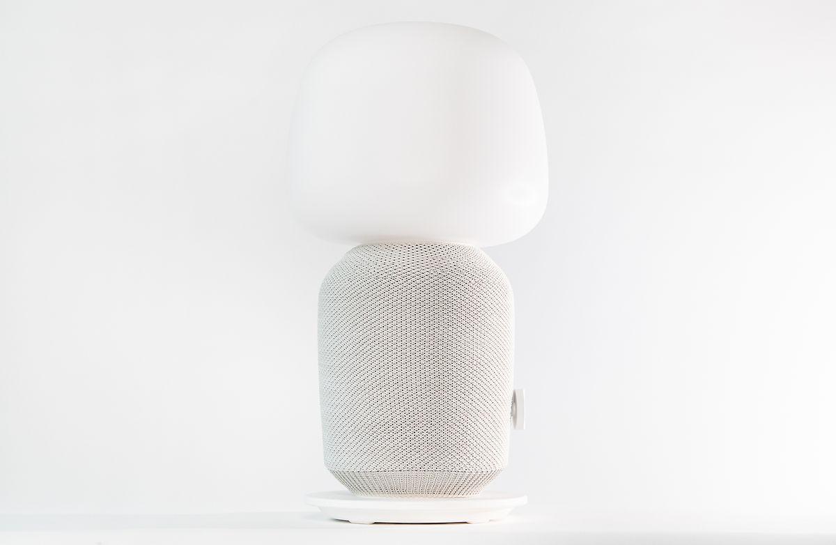 Praktische Kombi:Die Symfonisk-Lampe ist Lautsprecher und Lichtspender in einem.