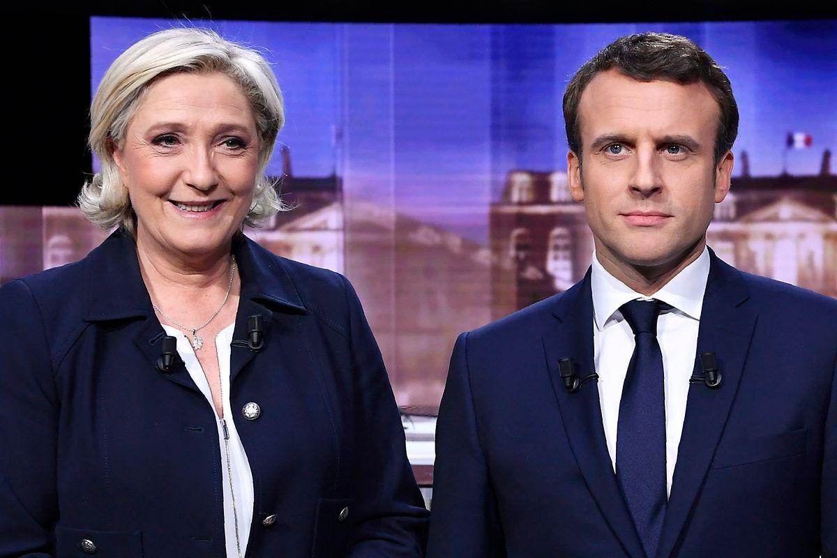 """Im letzten TV-Duell vor dem Finale der französischen Präsidentenwahl hat die rechte Kandidatin Marine Le Pen den Favoriten Emmanuel Macron als Vertreter einer """"wilden Globalisierung"""" angegriffen."""
