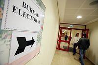 07.06.09 wahlen 2009 elections 2009, bureau de vote fentange, photo: Marc Wilwert