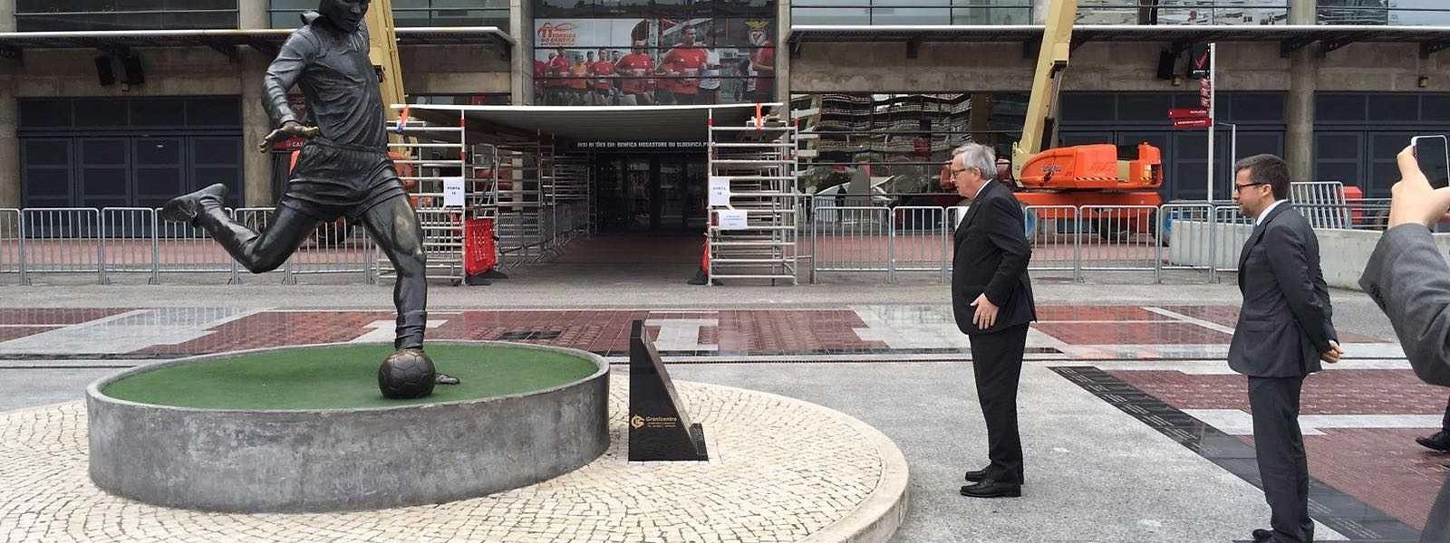 quando era novo, Juncker via os golos de Eusébio com os vizinhos portugueses no Grão-Ducado