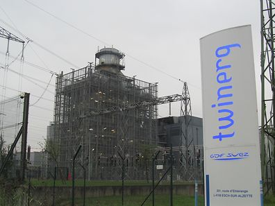 The gas and steam turbine power plant Twinerg in Esch.