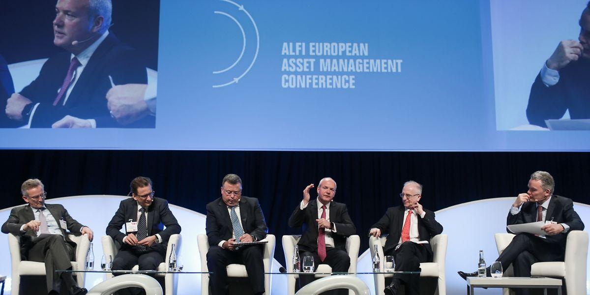 "Vertreter der europäischen Fondsindustrie bei der ""Alfi European Asset Management Conference"" auf Kirchberg."