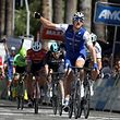 SACRAMENTO, CA - MAY 14: Marcel Kittel of Germany riding for Quick-Step Floors Team celebrates after beating Peter Sagan of Slovakia riding for Bora-Hansgrohe Team during Stage 1 of the AMGEN Tour of California on May 14, 2017 in Sacramento, California.   Chris Graythen/Getty Images/AFP == FOR NEWSPAPERS, INTERNET, TELCOS & TELEVISION USE ONLY ==