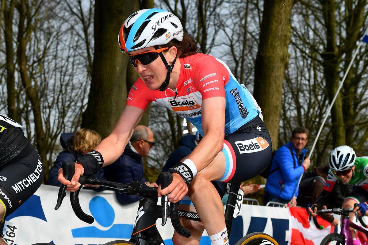 Christine Majerus s'est dépensée sans compter pour Amy Pieters qui s'est finalement classée cinquième.