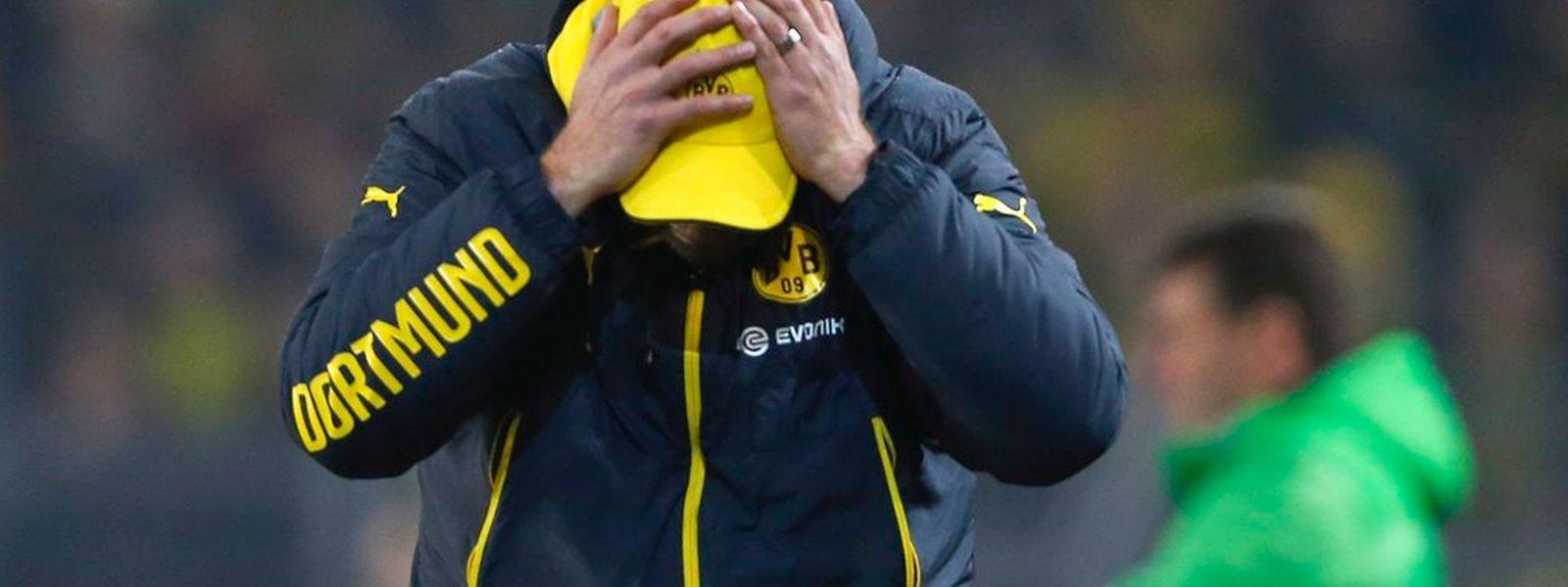 Es ist kaum zu fassen: Das Dortmunder Team von Trainer Jürgen Klopp stand erneut dicht vor dem Sieg.