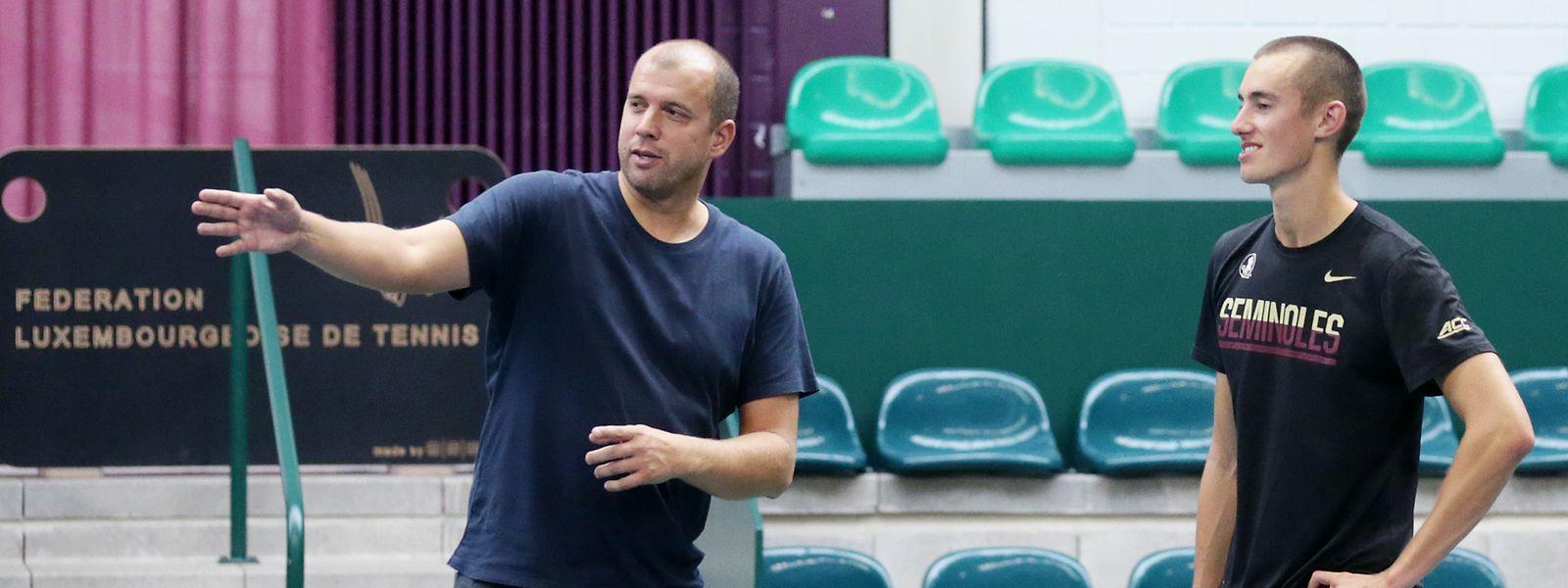 Alex Knaff (r.) kann auf die Tipps von Gilles Muller bauen.