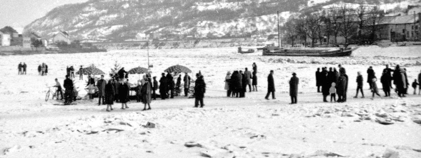 Eine Cola auf der Mosel? Im Winter 1962/1963 kein Problem.