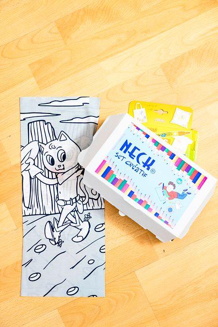 Nico Peters a même créé un set permettant aux enfants de personnaliser leur propre «neck».