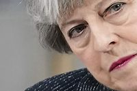 "Britain's Prime Minister Theresa May listens to a question after delivering a speech at Orsted East Coast Hub in the North Sea fishing port, Grimsby on March 8, 2019. - Prime Minister Theresa May called on the European Union for ""one more push"" to strike a compromise Brexit compromise and told MPs that rejecting the agreement could mean Britain never leaves. (Photo by Christopher Furlong / POOL / Getty Images)"