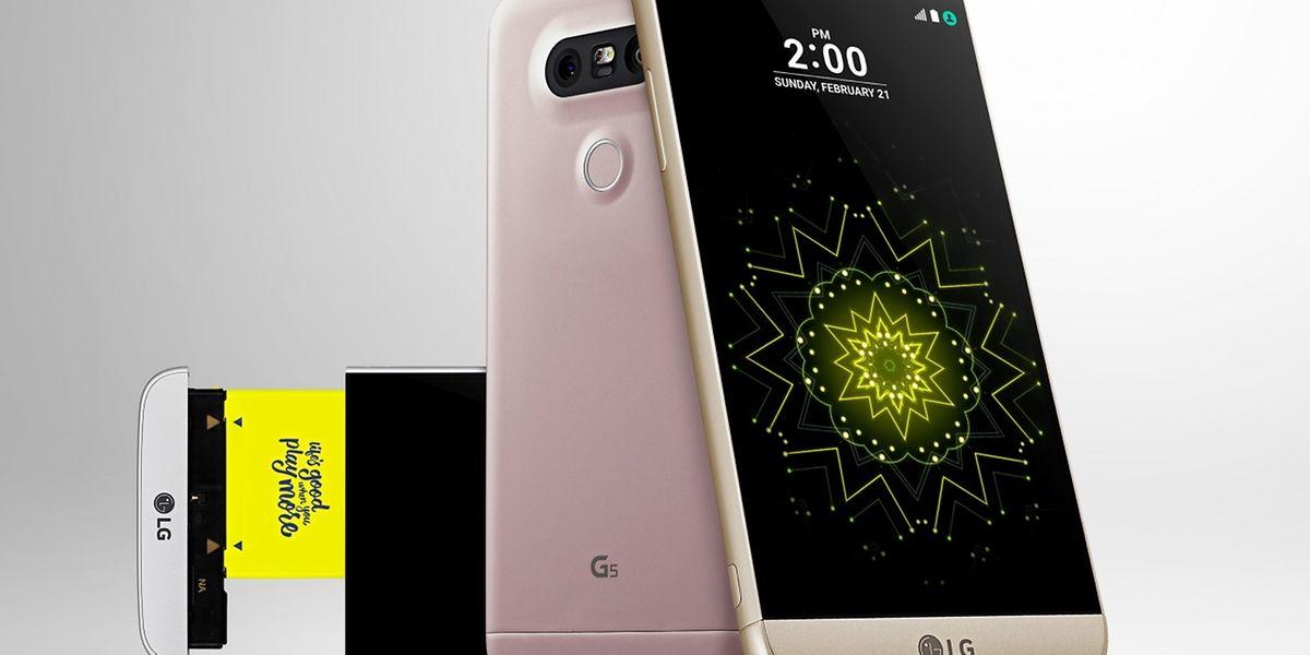 LG setzt beim neuen G5 auf einen wechselbaren Akku und Ansteckmodule für erweiterbare Funktionen.