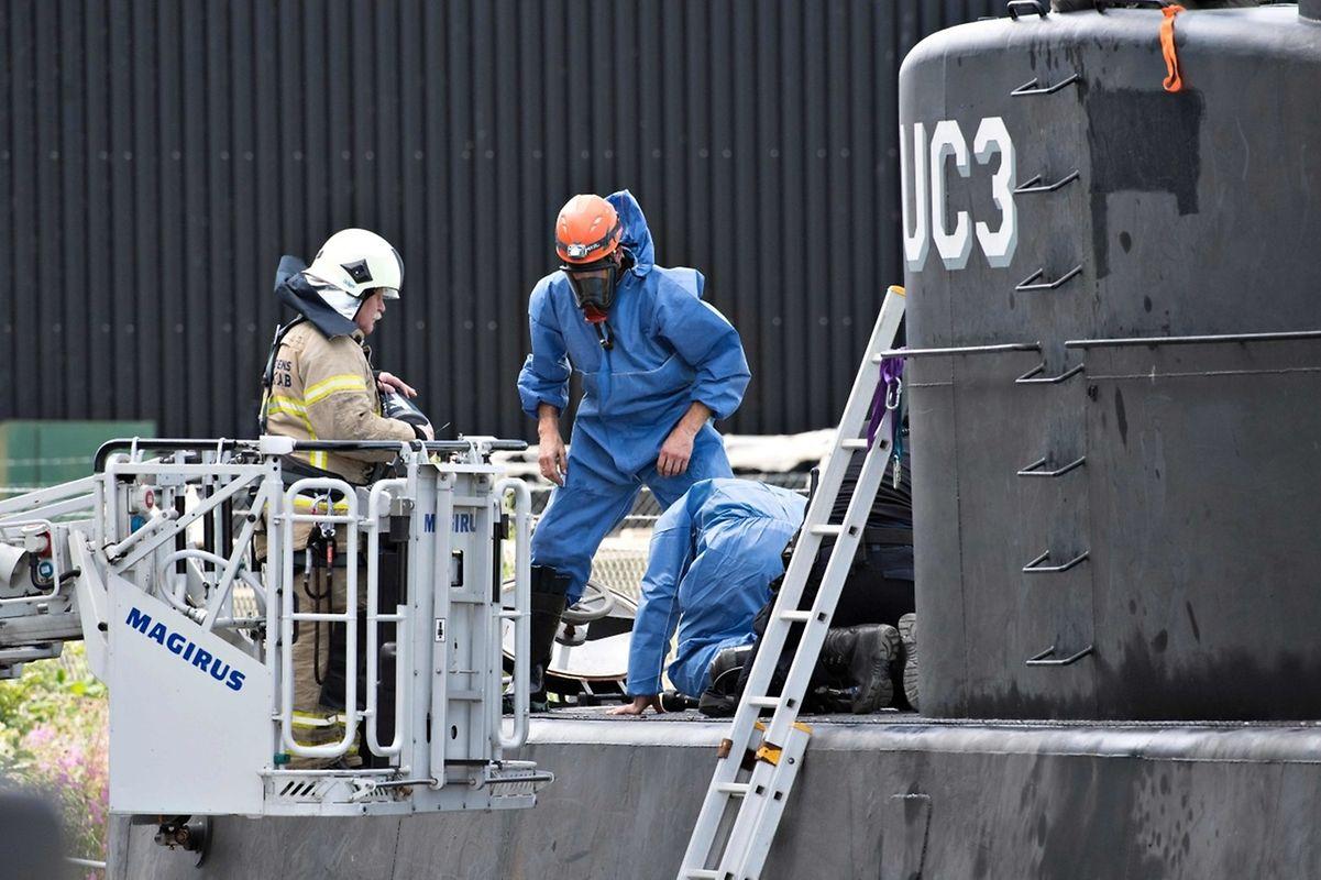 Das U-Boot sank nach dem Verschwinden der Journalistin. Die Polizei nahm Madsen fest, fand aber zunächst keine Leiche.