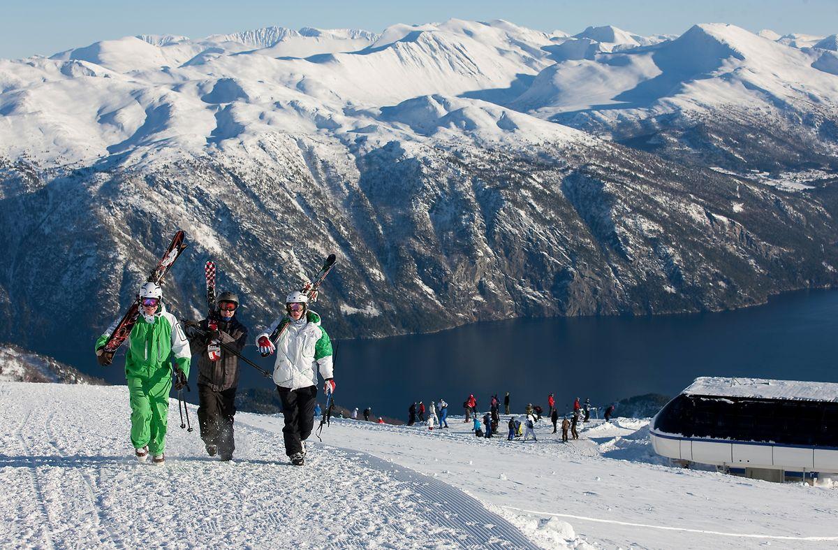 Der Tourismus in Stranda lag lange im Dornröschenschlaf - und auch heute kommen längst nicht so viele Urlauber wie in den meisten Alpen-Skigebieten.