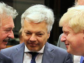 Jean Asselborn frente a frente com Boris Johnson