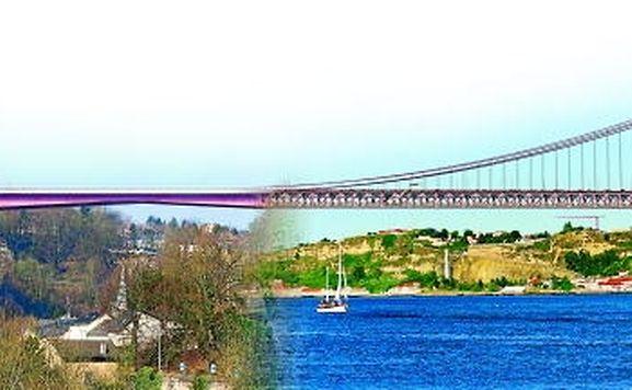 A ponte Grande-Duchesse Charlotte e a Ponte 25 de Abril festejam ambas 50 anos em 2016