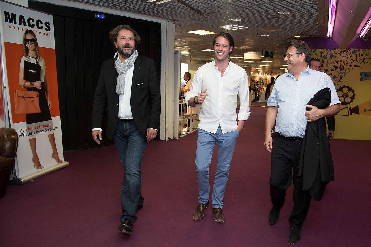 Le Prince Félix visite le marché international du film au Palais des festivals.