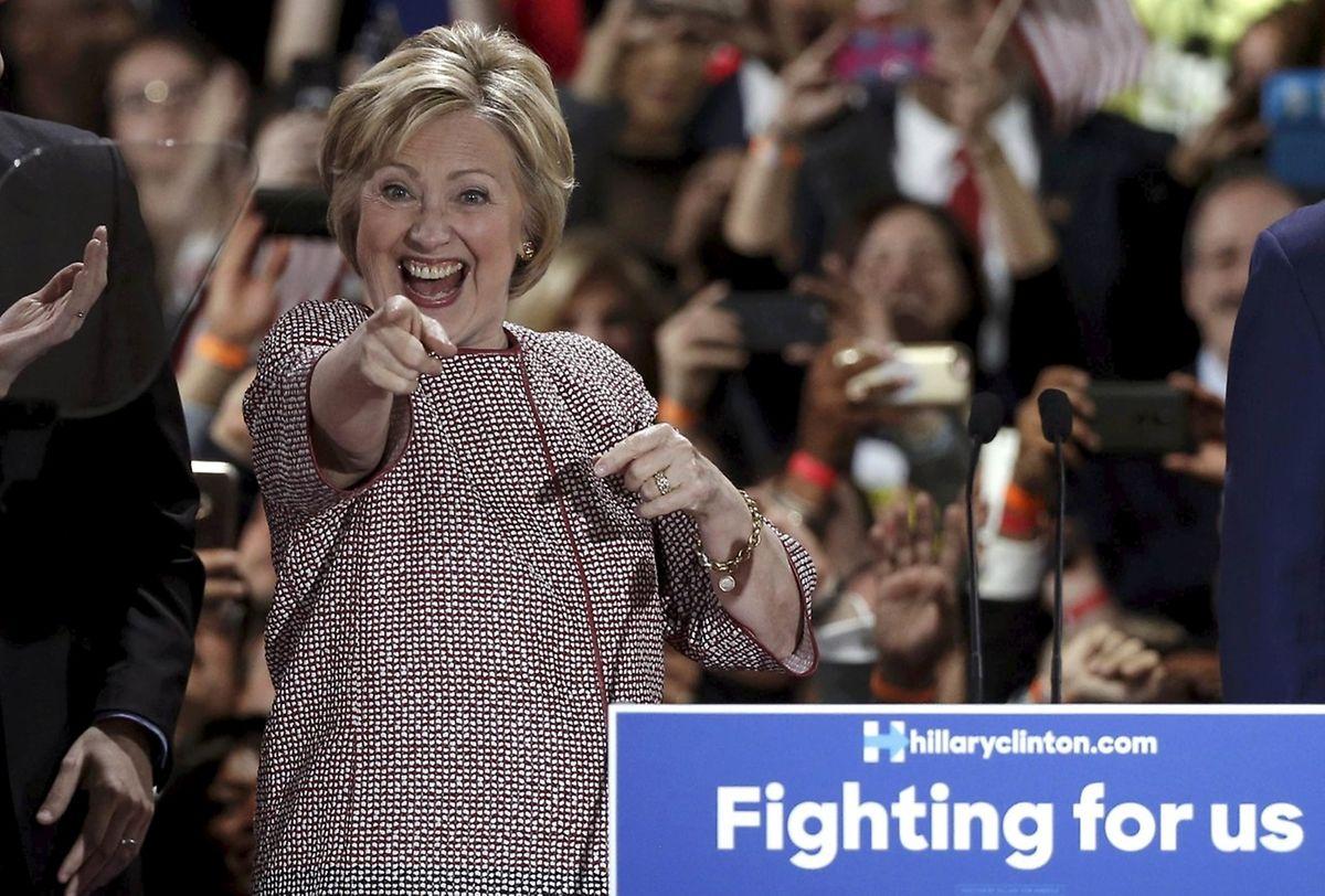 Auch Hillary Clinton hat gut lachen.