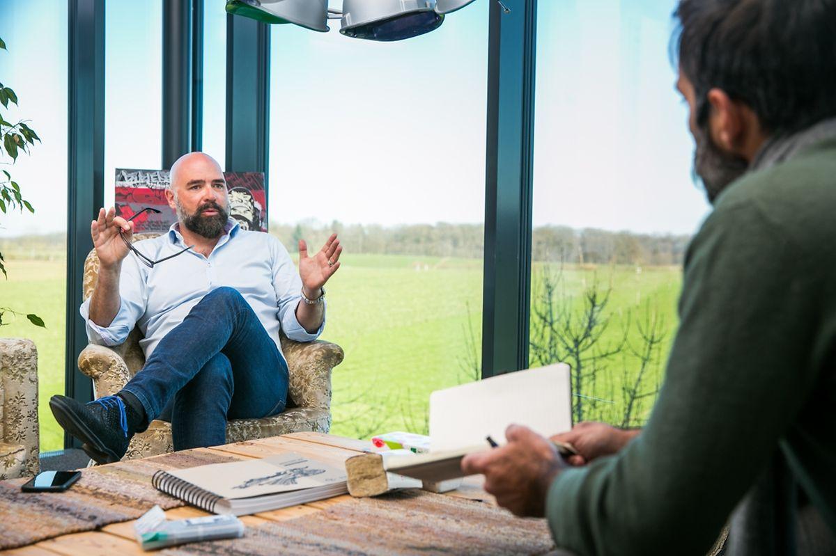 Romain Poulles lors de notre entretien au Solarwind le 23 février.