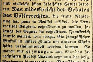 """Das stand vor hundert Jahrne im """"Luxemburger Wort""""."""