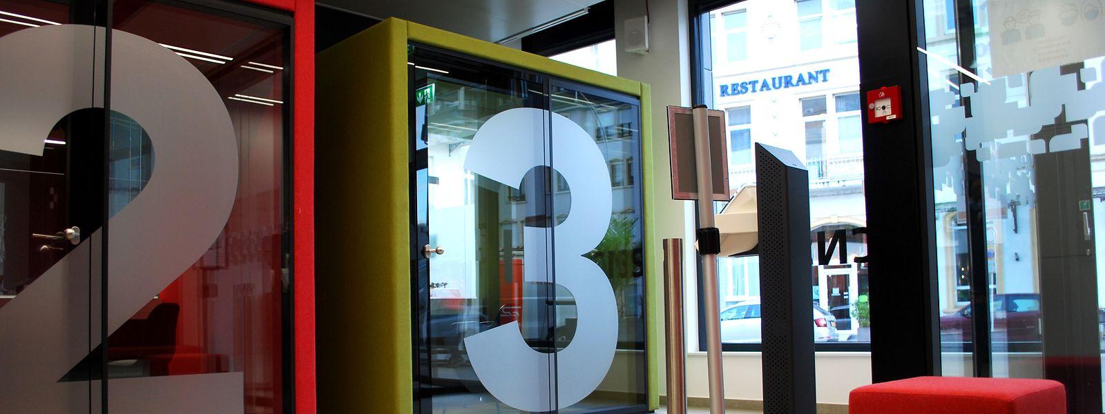 Im Inneren der CNS-Filiale in Bad Mondorf gibt es drei Schalter.