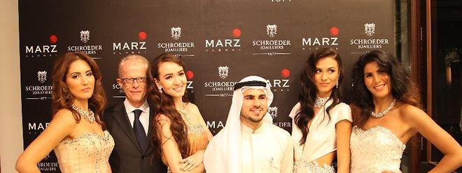 Große Gala für die Einführung der Marke Schroeder in Dubai.