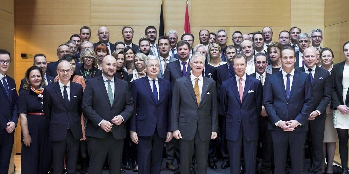 Le jeune CEO de la start-up Succy s'est glissé sur cette photo officielle, saurez-vous le retrouver? «En haut à gauche», aide Antoine Hubert.