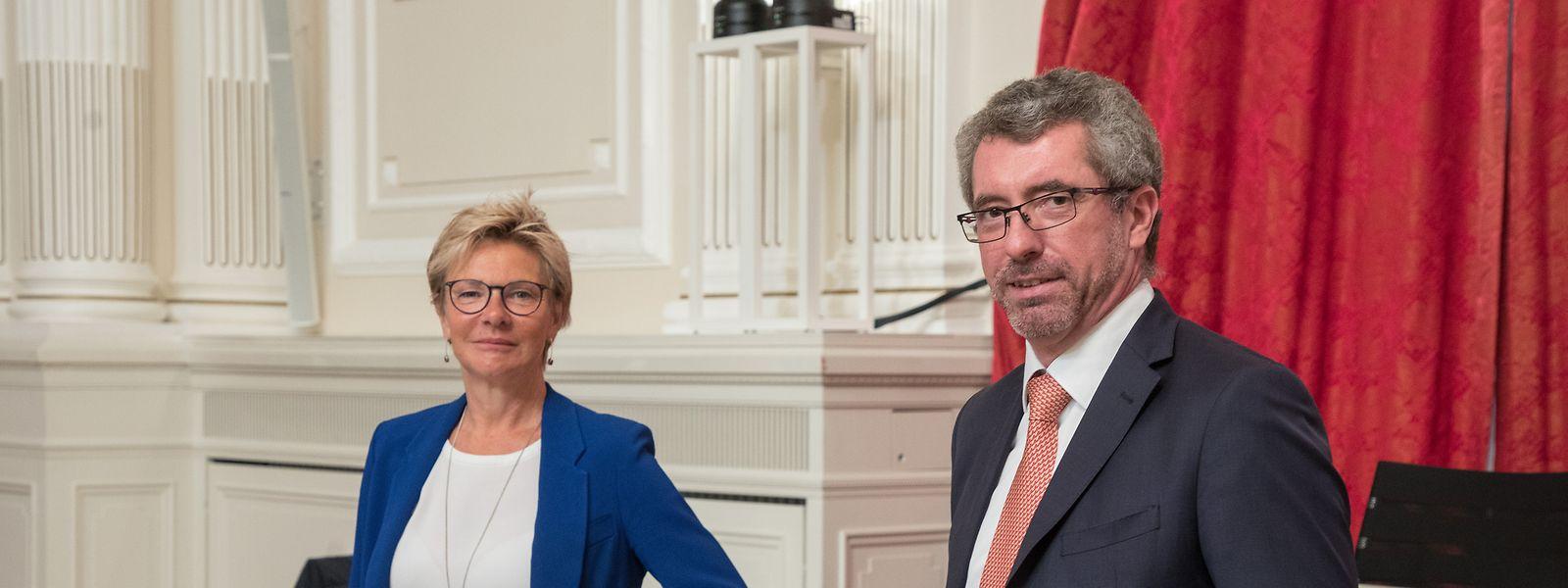 Fraktionschefin Martine Hansen mit dem ehemaligen Parteichef Frank Engel. Seit einer Weile herrscht Funkstille.