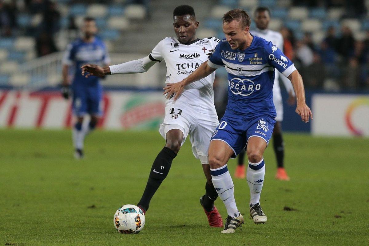 Pierre Bengtsson et Bastia n'ont eu aucun mal à contenir les timides tentatives de Opa Nguette et d'un FC Metz fantomatiques ce samedi.