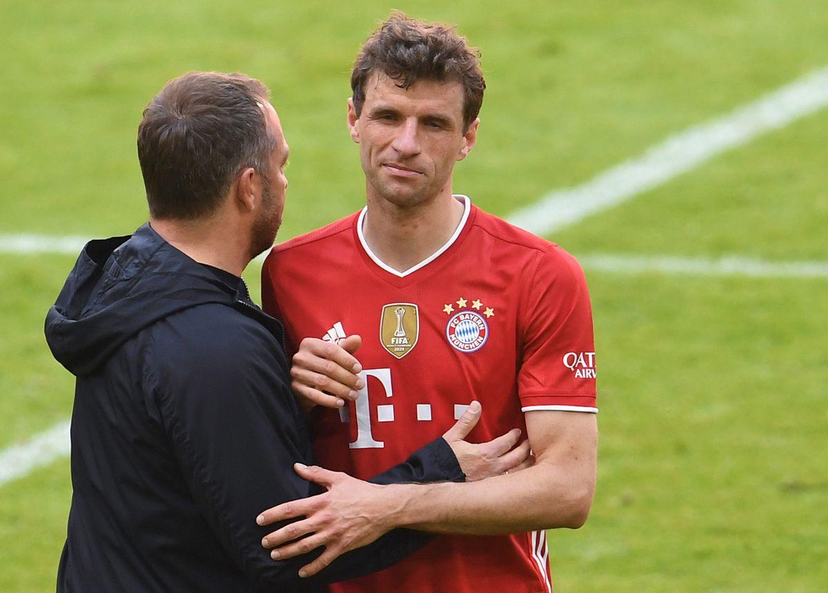 Trainer Hansi Flick und Thomas Müller sind optimistisch.