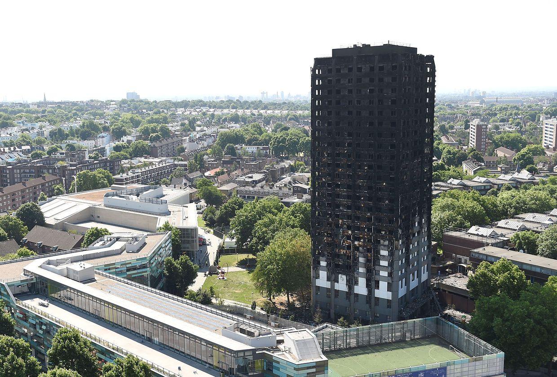 Der ausgebrannte Grenfell Tower.