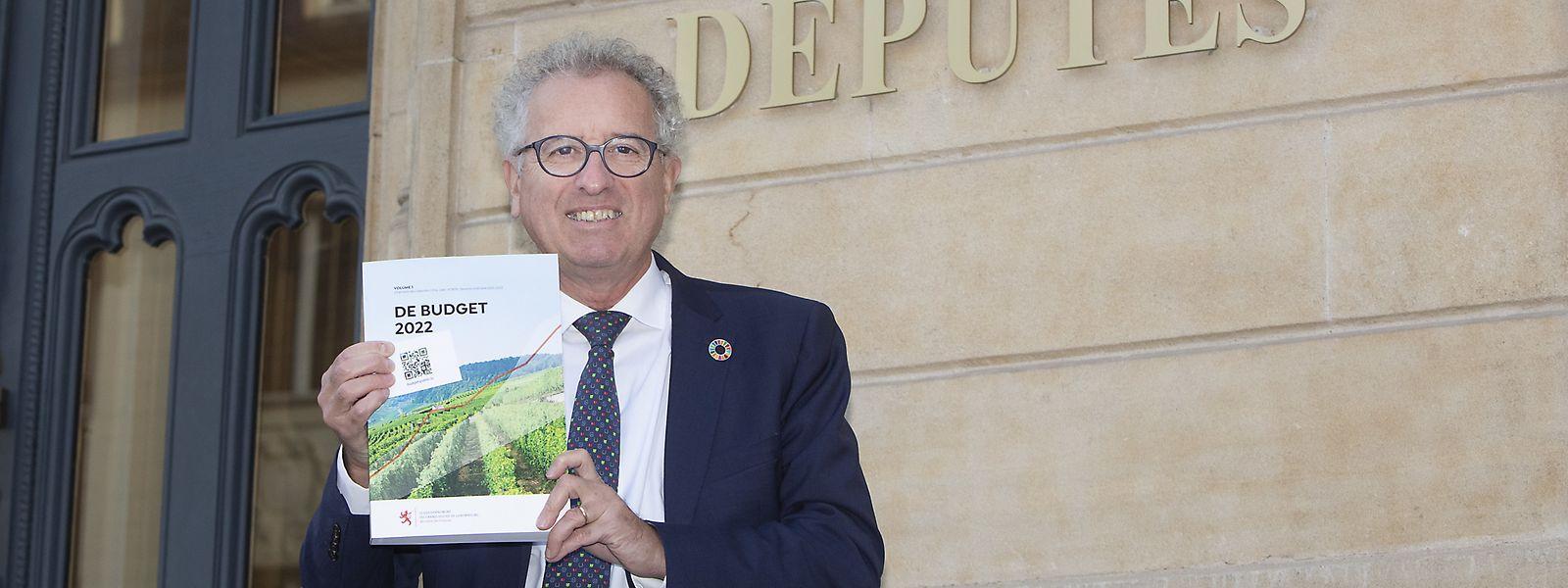 Finanzminister Pierre Gramegna gibt sich in Bezug auf den Haushaltsentwurf 2022  vorsichtig optimistisch.