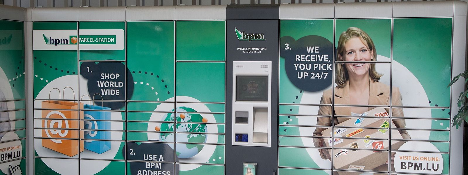 Die früheren Paketautomaten wurden inzwischen von der luxemburgischen Post übernommen. Sie stehen BPM nicht mehr zur Verfügung. BPM-Sendungen können künftig in Paketshops abgeholt werden.
