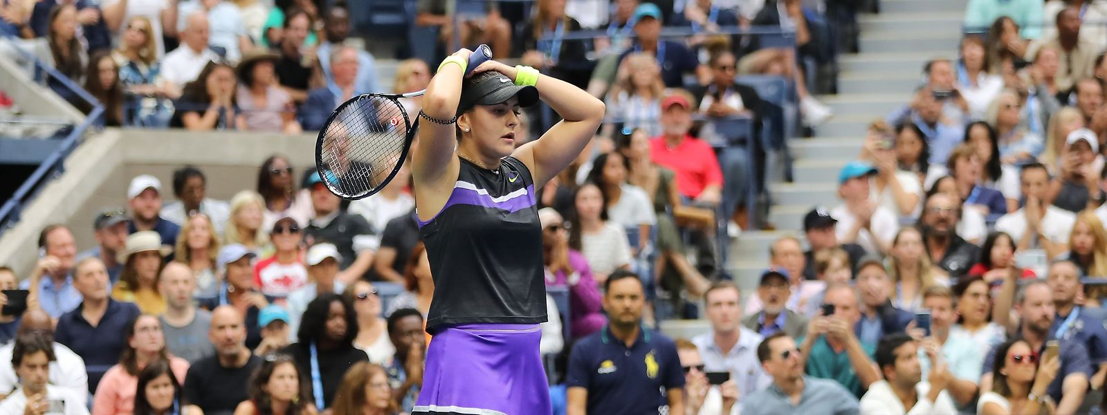 Bianca Andreescu nach dem verwandelten Matchball: Die 19-Jährige kann es noch nicht ganz fassen.