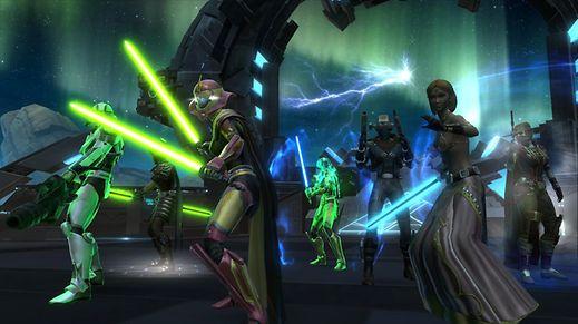 Gruppenbild mit Helden: Star Wars:The Old Republic war zunächst ein klassisches Online-Rollenspiel mit monatlichen Gebühren, funktioniert inzwischen aber auch nach dem Free-to-play-Modell.
