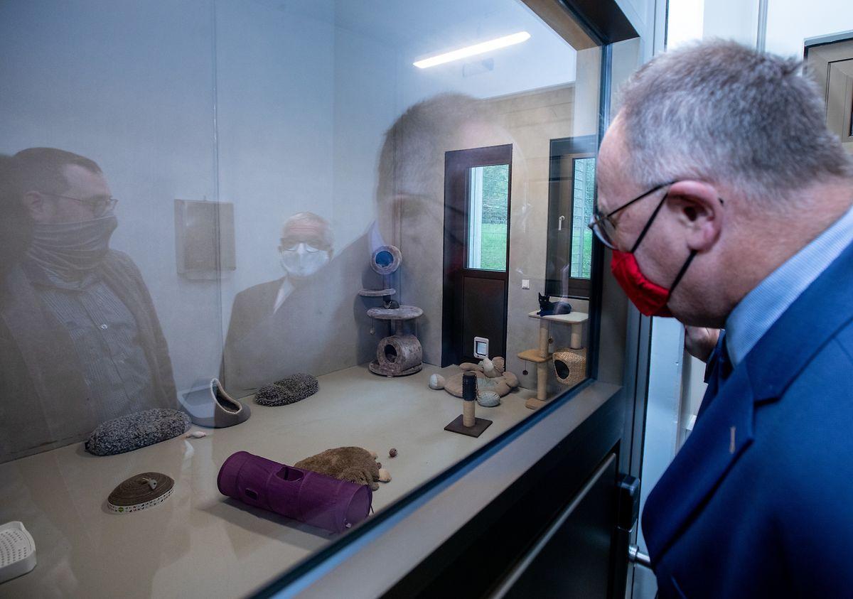 Das neue Tierasyl in Schifflingen wurde in Anwesenheit von LAndwirtschaftsminister Romain Schneider eingeweiht.