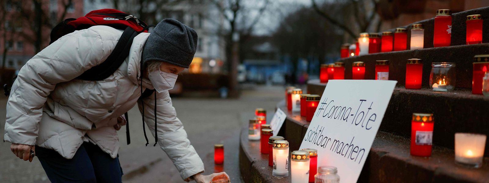 Memorial em homenagem às vítimas da pandemia em Berlim, capital alemã.