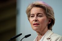 11.11.2019, Bayern, München: Ursula von der Leyen (CDU), designierte Präsidentin der Europäischen Kommission, nimmt an der Generalversammlung des Wirtschaftsbeirats der Union teil. Foto: Sven Hoppe/dpa +++ dpa-Bildfunk +++