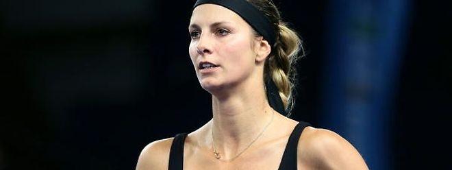 Mandy Minella spielt sehr gerne Doppel.