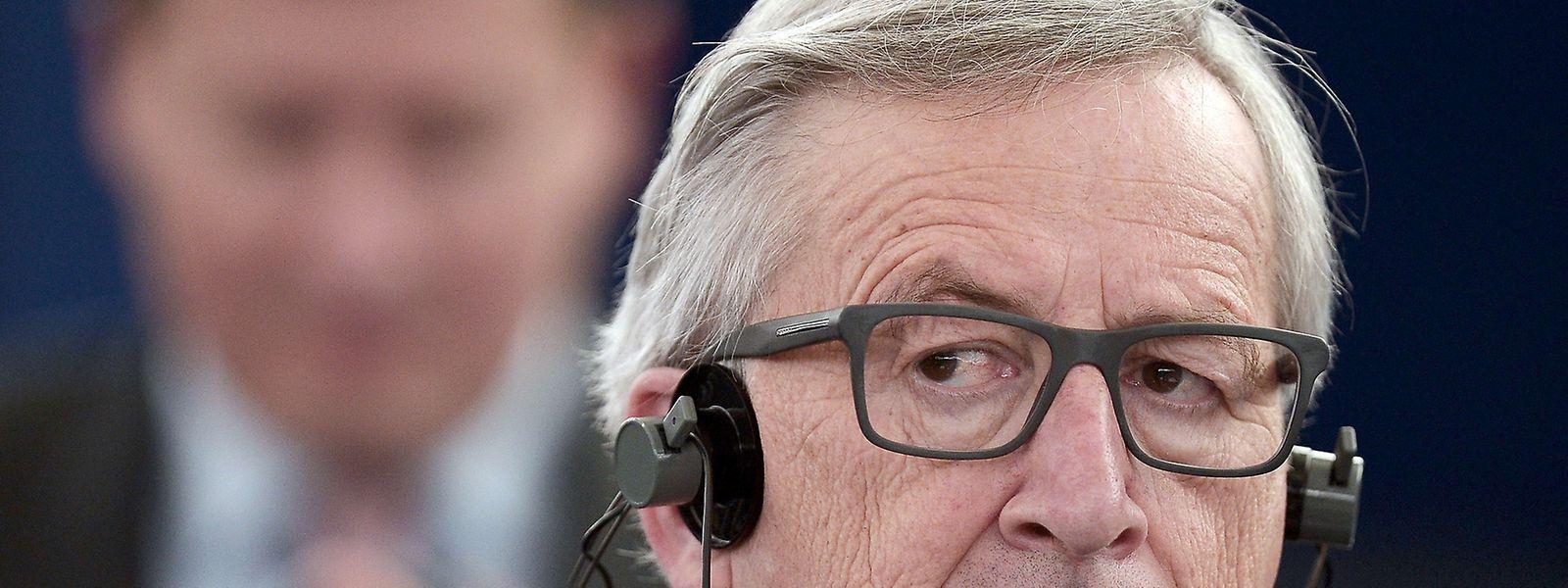 Jean-Claude Juncker au Parlement européen, mercredi 29 avril