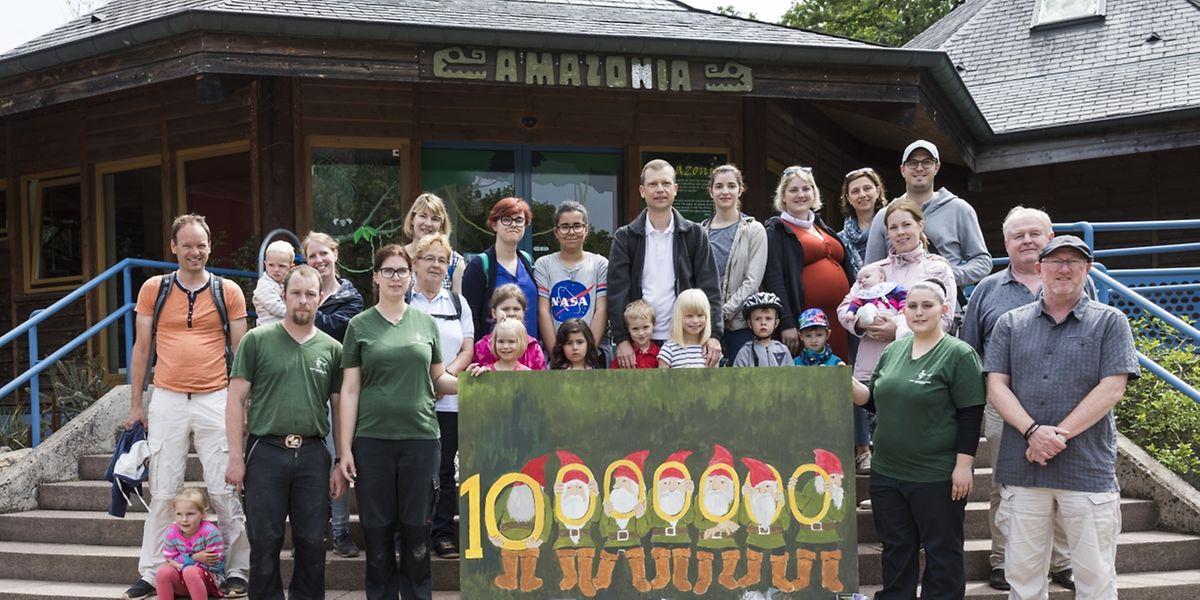 Der zehnmillionste Besucher im Bettemburger Märchenpark, photo: Caroline Martin