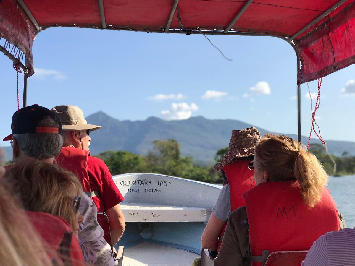 Eines der zahlreichen Highlights der Reise: eine Bootsfahrt auf dem Nicaraguasee.