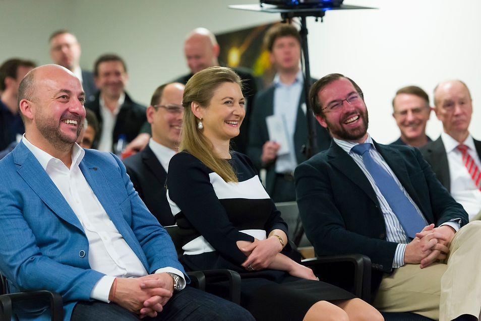 Pour Étienne Schneider, ici au côté de la Grande-Duchesse héritière et du Grand-Duc héritier, la mission a été l'occasion de mesurer combien l'initiative luxembourgeoise était connue