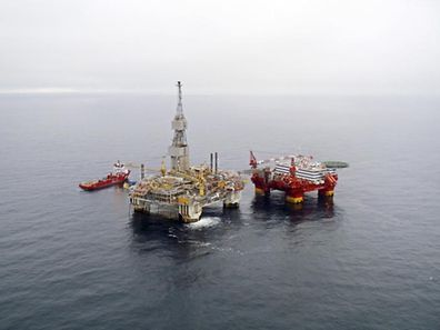 Statoil's 'Njord A' platform off the coast of Norway.