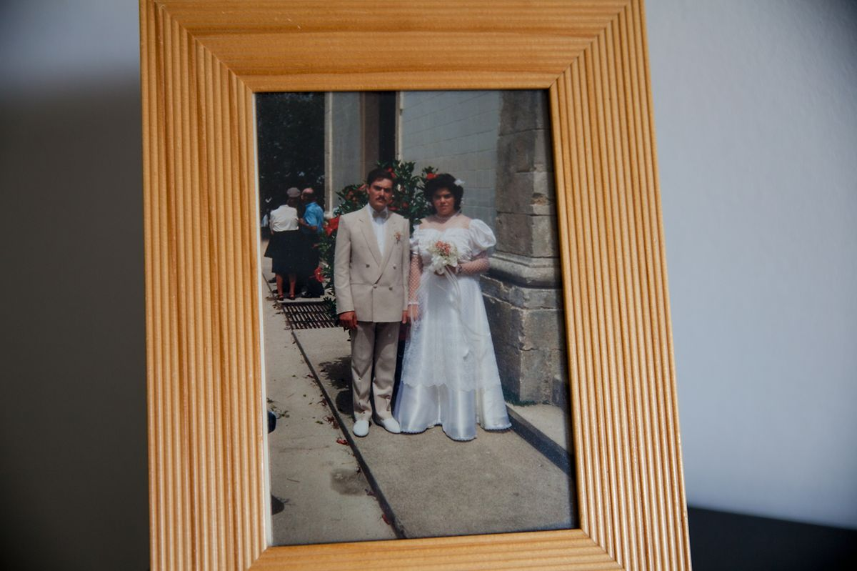 Licínio e Benilde no dia do seu casamento.
