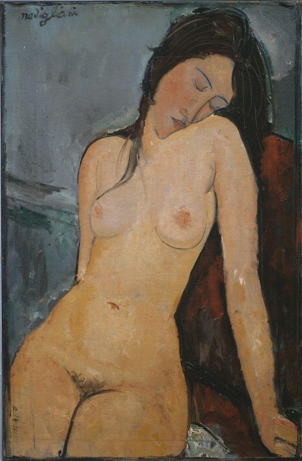Amedeo Modglianis impressionistische Aktgemälde (hier ein Porträt seiner Künstlerfreundin Iris Tree, um 1916) wurden zu seiner Zeit als skandalös empfunden - in manchen Teilen der Welt ist das offenkundig heute noch der Fall.