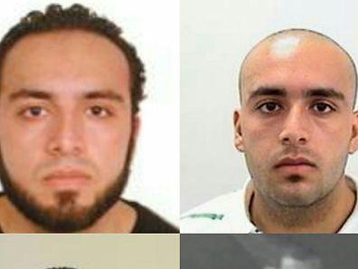 Deux photos d'Ahmad Khan Rahami, citoyen américain de 28 ans d'origine afghane