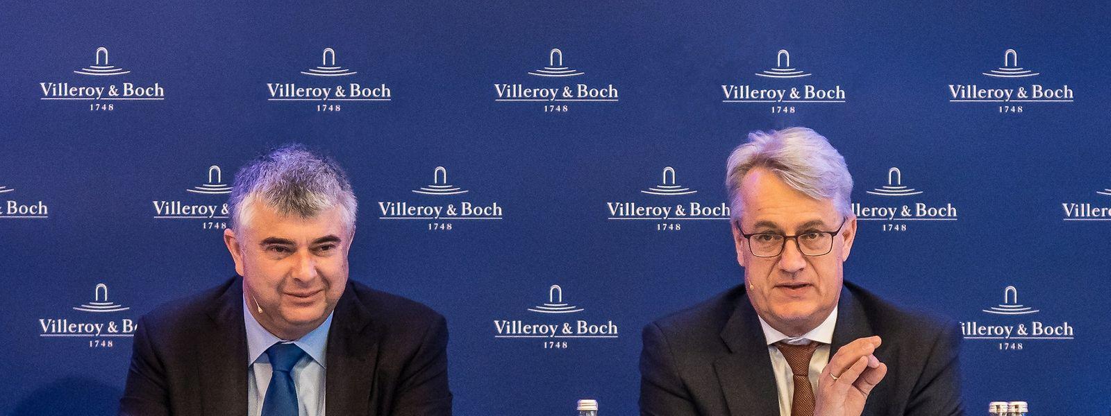 Finanzvorstand Markus Warncke (links) und Vorstandsvorsitzender Frank Göring (rechts) präsentierten am Donnerstag die Geschäftsdaten des vergangenen Jahres.