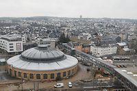 Illustration, CFL, Zugschienen, Rotondes, Bonnevoie, Fussgängerbrücke zwischen Bahnhof und Bonnevoie, CFL   Foto: Anouk Antony/Luxemburger Wort