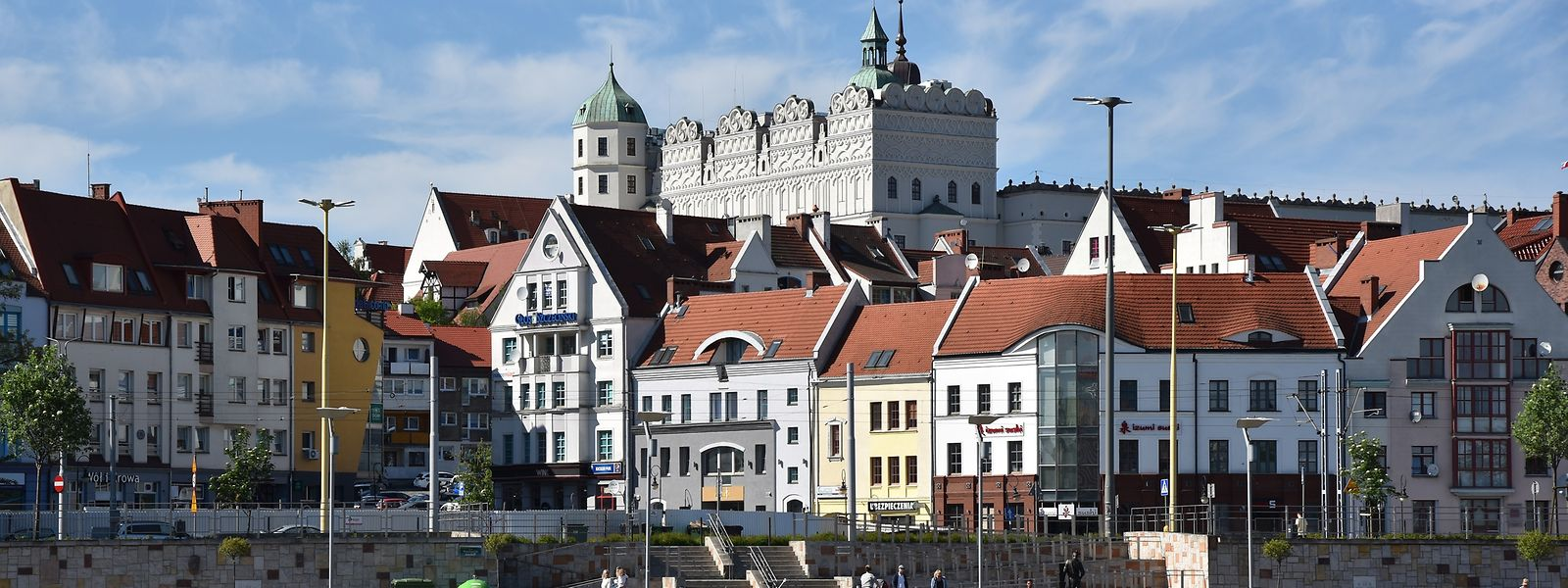 Blick auf die Stettiner Altstadt mit dem Schloss.