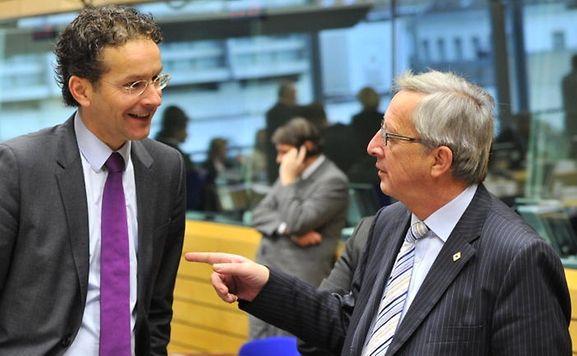 Jeroen Dijsselbloem (l.) with Jean-Claude Juncker