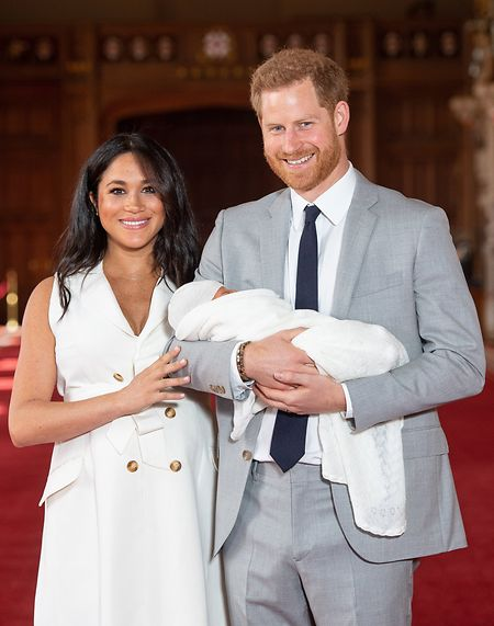 Prinz Harry von Großbritannien und Meghan, Herzogin von Sussex kurz nach der Geburt von Sohn Archie im Mai.